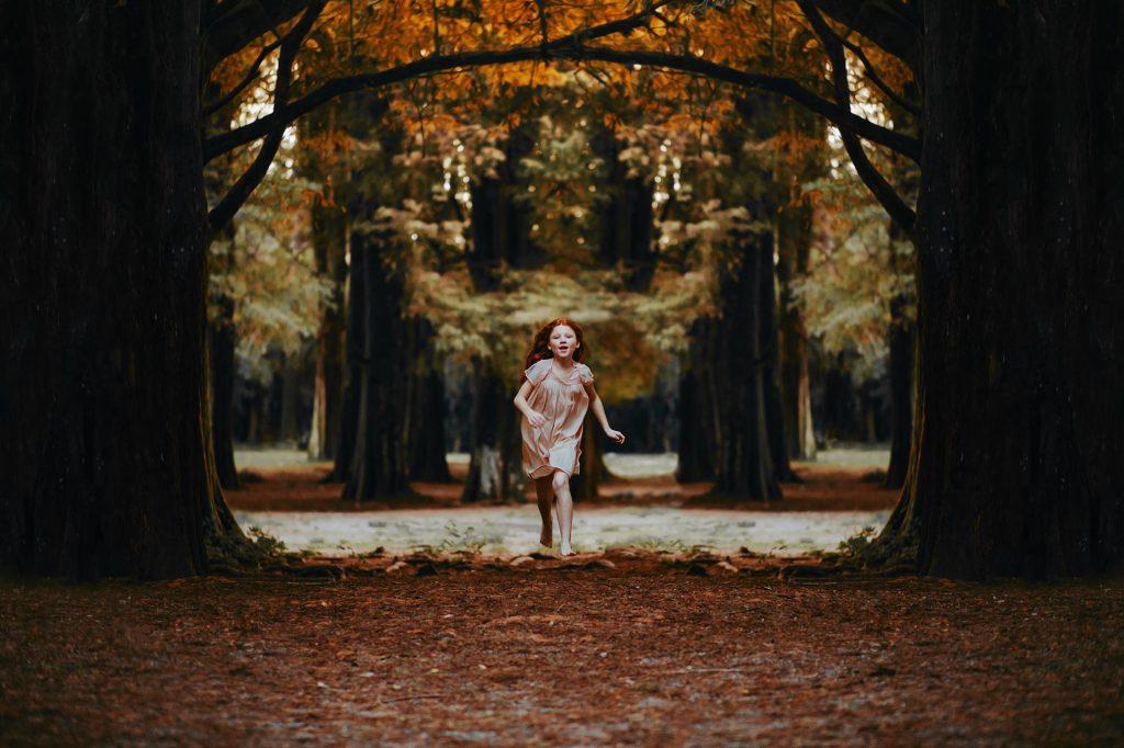 Courageous Faith child running