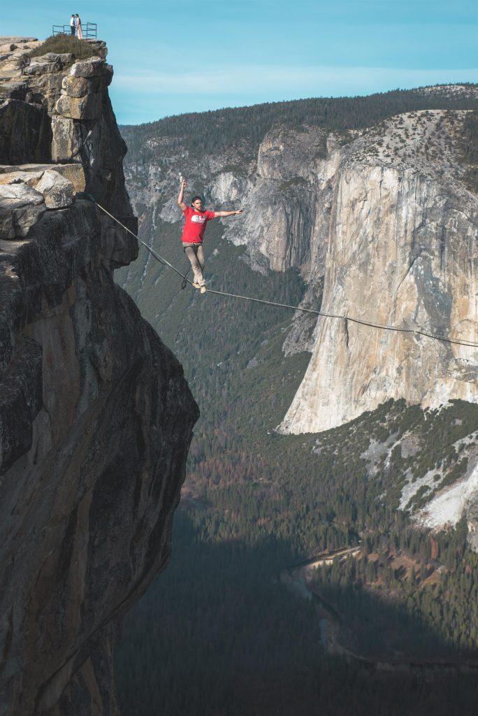 Courageous faith tightrope