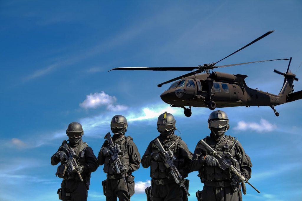 Troops evacuating by air